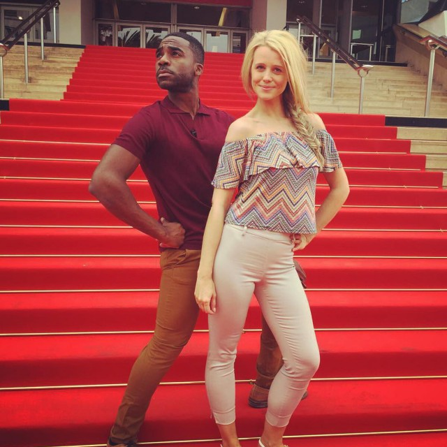 Perfecting our red carpet poses for thismorning SOO much workhellip