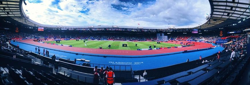 Hampden Park filling up for a memorable night of athletics