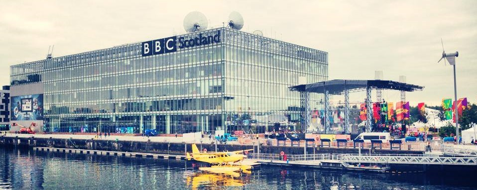 Pacific Quay, home to the BBC's Glasgow 2014 operation