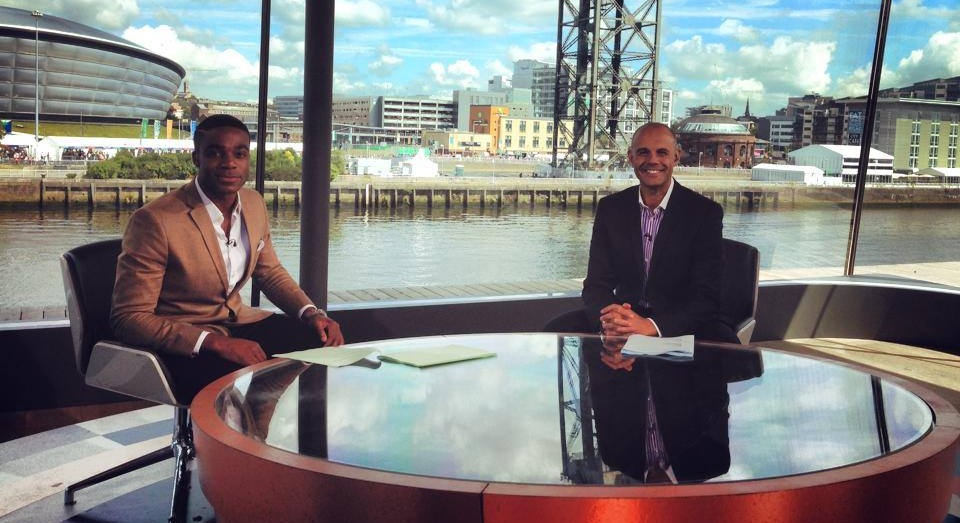 Handing over to my friend Jason Mohammed after my stint on BBC1